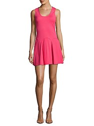 Parker Solid Pleated Dress Flamingo