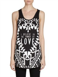 Givenchy Power Of Love Printed Jersey Tank Black Multi