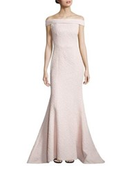 Alberto Makali Textured Off The Shoulder Gown Blush