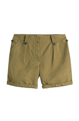 Burberry Carlby Cotton Linen Shorts
