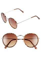 Men's Topman 48Mm Round Retro Sunglasses