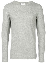 The White Briefs Long Sleeved T Shirt Grey