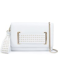 Thomas Wylde Studded Clutch White