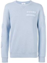 Dondup Patch Sweatshirt Cotton Blue