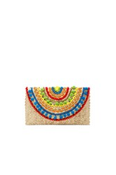 Mystique Rainbow Clutch Beige