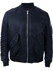 Phenomenon Creased Sleeves Bomber Jacket Black