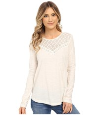Roxy Floridays Long Sleeve Tee Sand Piper Women's Long Sleeve Pullover White