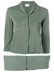 Romeo Gigli Vintage 2000'S Two Piece Suit Green