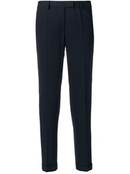 Alberto Biani Mid Rise Tailored Trousers Blue