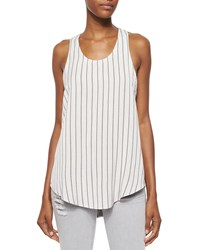 Iro Coleen Sleeveless Striped Racerback Top Size 38 Fr 6 Us White Black