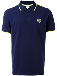 Kenzo 'Mini Tiger' Polo Shirt Blue