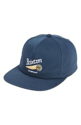 Brixton Men's Maverick Snapback Baseball Cap Blue Navy