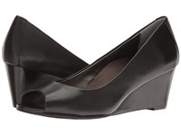 Vionic Bria Black Sheep Nappa Women's Wedge Shoes