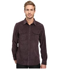 Royal Robbins Grid Cord Long Sleeve Shirt Plum Perfect Men's Long Sleeve Button Up Blue