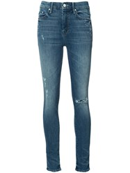 Mother High Rise Skinny Jeans Blue