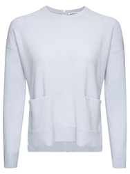 Whistles Cashmere Pocket Front Jumper Blue