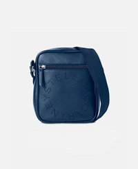 Stella Mccartney Blue Logo Messenger Bag