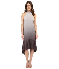 Culture Phit Camisha Ombre Halter Dress Grey Women's Dress Gray