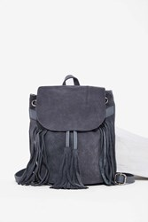 Nasty Gal Don't Hang Up Suede Tassel Backpack