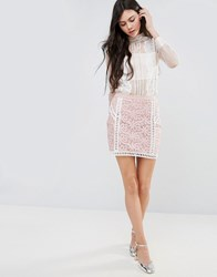 Endless Rose Lace Skirt With Contrast Lining White