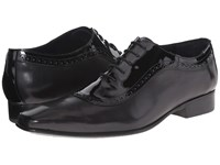 Messico Bohemios Black Black Patent Leather Men's Dress Flat Shoes