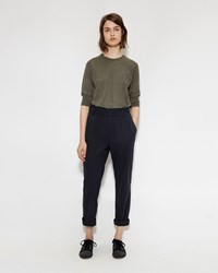 Mhl By Margaret Howell Cinched Crop Trouser Black