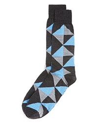 Bloomingdale's The Men's Store At Merino Wool Triangle Socks Charcoal