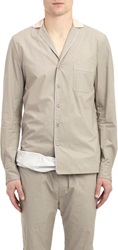 Bottega Veneta Piped Pajama Shirt Nude Size 48 Eu