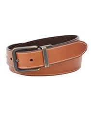 Fossil Reversible Leather Belt Dark Brown