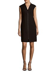 Lafayette 148 New York Christy Solid Zip Front Dress Black