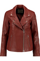 American Vintage Lucas Valley Textured Leather Biker Jacket