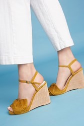 Anthropologie Jeffrey Campbell Envuelto Knotted Wedges Yellow