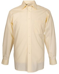 Double Two Men's King Size Plain Non Iron Cotton Rich Shirt Lemon