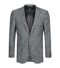 Boss Nordan Textured Wool Jacket Male Grey