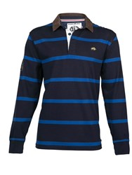 Raging Bull L S Striped First Xv Rugby Navy