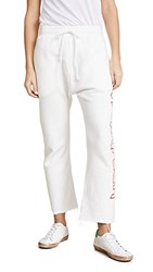 R 13 R13 Thirteen Sweatpants White