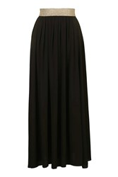 Gold Banded Maxi Skirt By Wal G Black