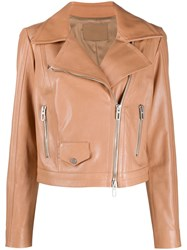 Drome Fitted Biker Jacket Neutrals