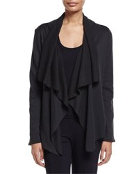 Hanro Cashmere Blend Open Front Cardigan Phantom