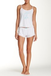Wildfox Couture Dressed Up In Love Cami Set White