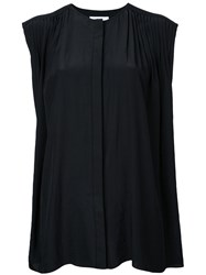 Astraet Sleeveless Oversized Blouse Women Polyester One Size Black