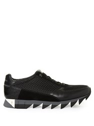 Dolce And Gabbana Saw Sole Low Top Mesh Trainers Black Multi