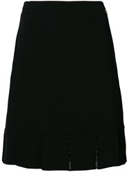 Twin Set Midi A Line Skirt Black