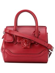 Versace Mini Palazzo Empire Shoulder Bag Women Cotton Leather One Size Red