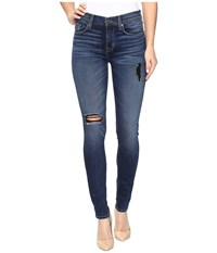 Hudson Nico Mid Rise Super Skinny Jeans In Tipping Point Tipping Point Women's Jeans Blue