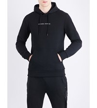Criminal Damage Orie Dragon Embroidered Cotton Jersey Hoody Black