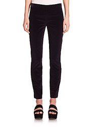 The Row Laudette Skinny Corduroy Pants Navy