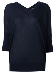 Derek Lam V Neck Jumper Blue