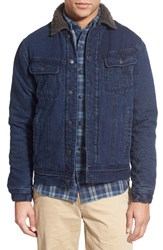 Men's Faherty Lined Indigo Canvas Jacket