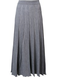 Chloe Pleated Midi Skirt Grey